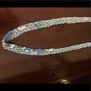 Mignonne Gavigan Krissie Scarf Necklace: Blue